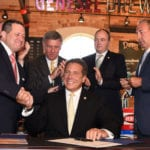 Signing of NY farm brewery law